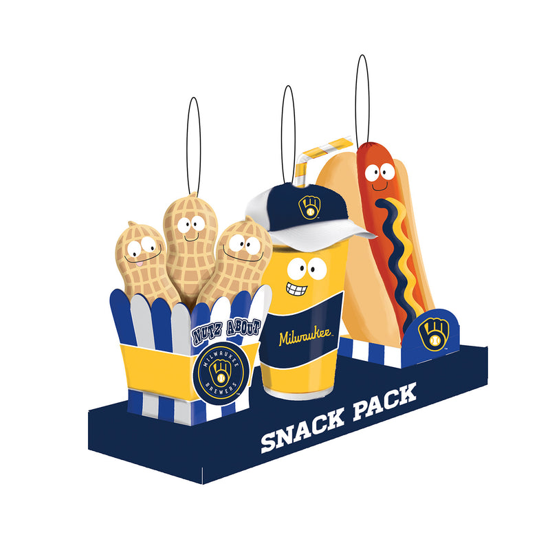 Evergreen Milwaukee Brewers, Snack Pack, 1.25'' x 1.5 '' x 2.25'' inches