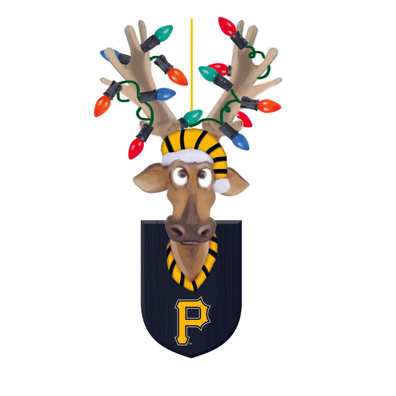 Evergreen Pittsburgh Pirates, Resin Reindeer Orn, 1.57'' x 2.36 '' x 4.02'' inches