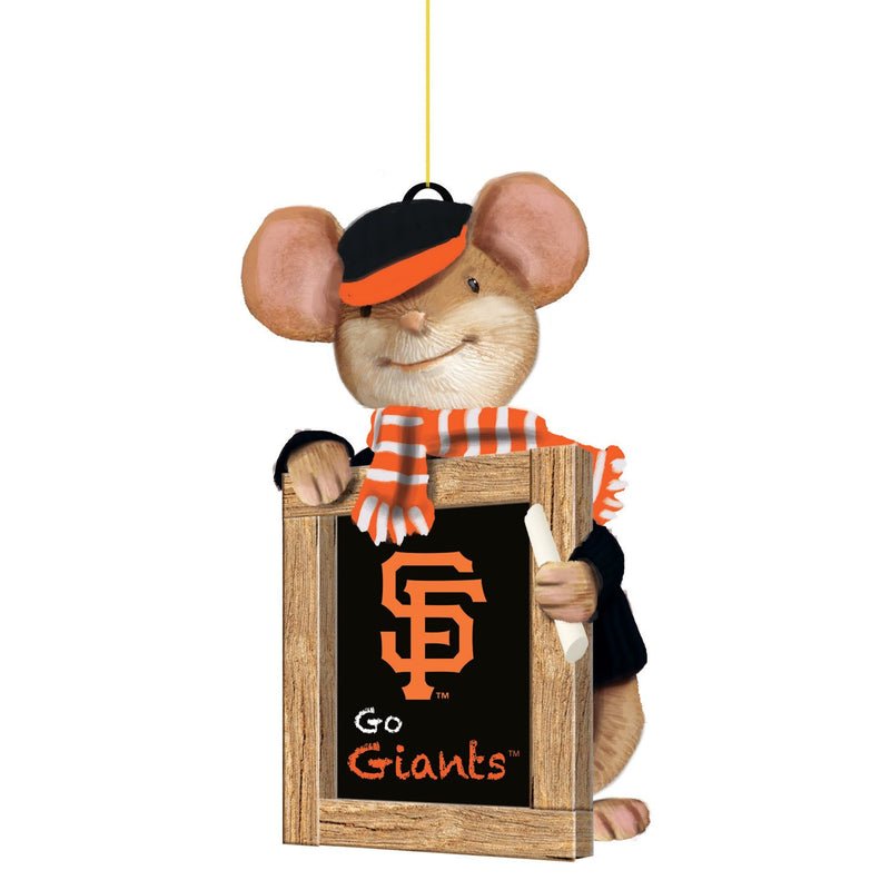 Evergreen San Francisco Giants, Holiday Mouse Ornament, 2'' x 1.5 '' x 3.5'' inches