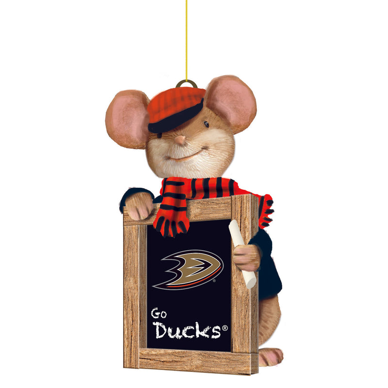 Anaheim Ducks, Holiday Mouse Ornament Officially Licensed Decorative Ornament for Sports Fans Ornament