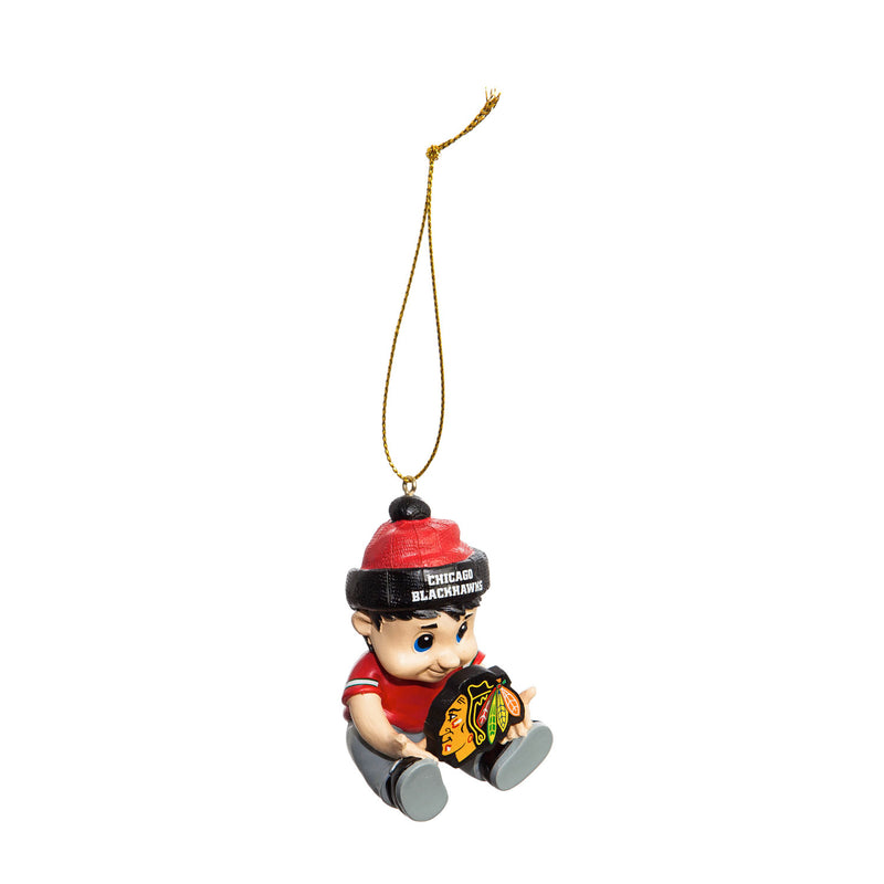 "Team Sports America NHL Chicago Blackhawks Remarkable Adorable Lil Fan Christmas Ornament - 2"" Long x 2"" Wide x 3"" High"