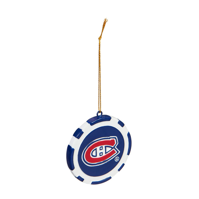 Evergreen Montreal Canadiens, Game Chip Ornament, 2.5'' x 2.5 '' x 0.25'' inches
