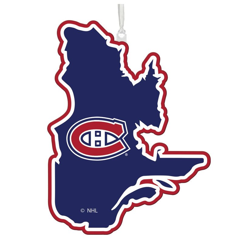 Evergreen Montreal Canadiens, State Ornament, 5.3'' x 0.2 '' x 5.1'' inches