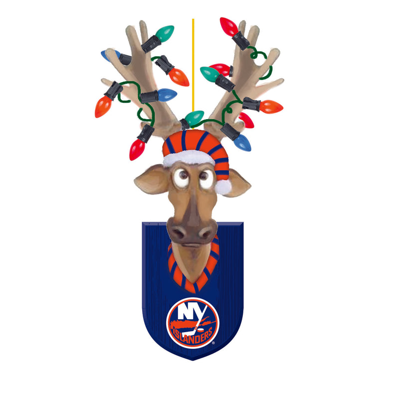 Evergreen New York Islanders, Resin Reindeer Orn, 1.57'' x 2.36 '' x 4.02'' inches