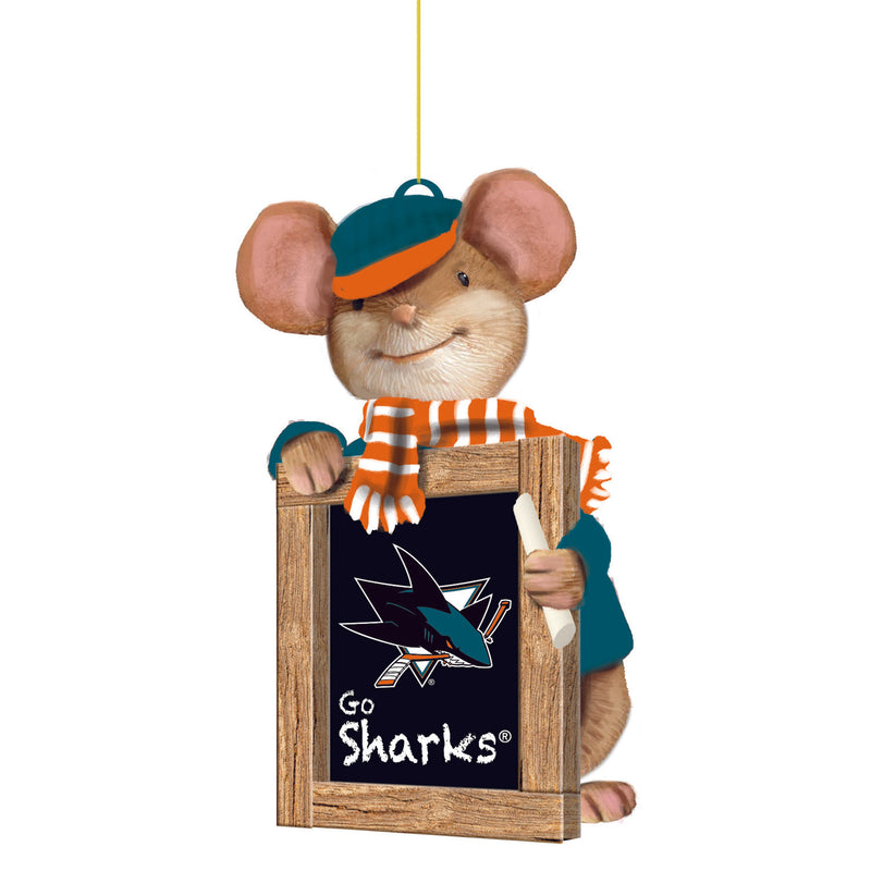 San Jose Sharks, Holiday Mouse Ornament Officially Licensed Decorative Ornament for Sports Fans Ornament