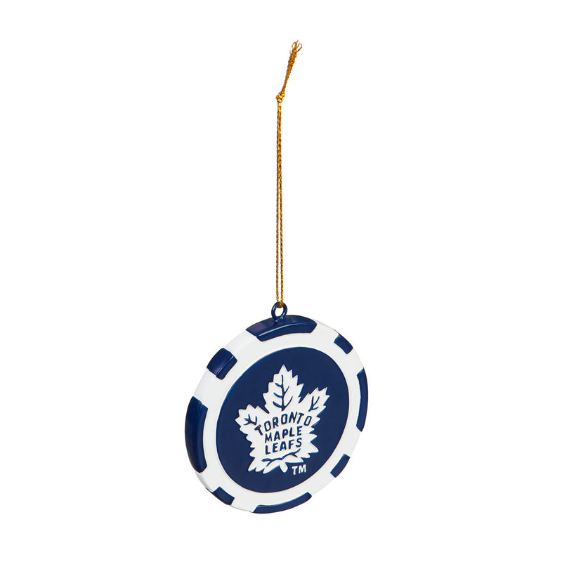 Evergreen Toronto Maple Leafs, Game Chip Ornament, 2.5'' x 2.5 '' x 0.25'' inches