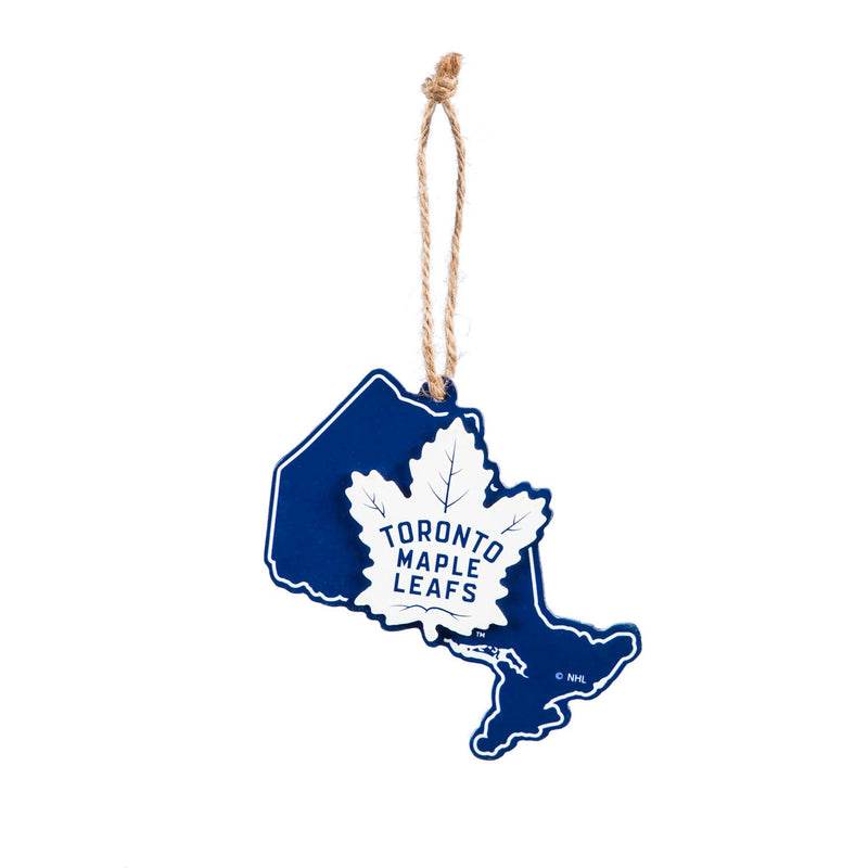 Evergreen Toronto Maple Leafs, State Ornament, 5.3'' x 0.2 '' x 5.1'' inches