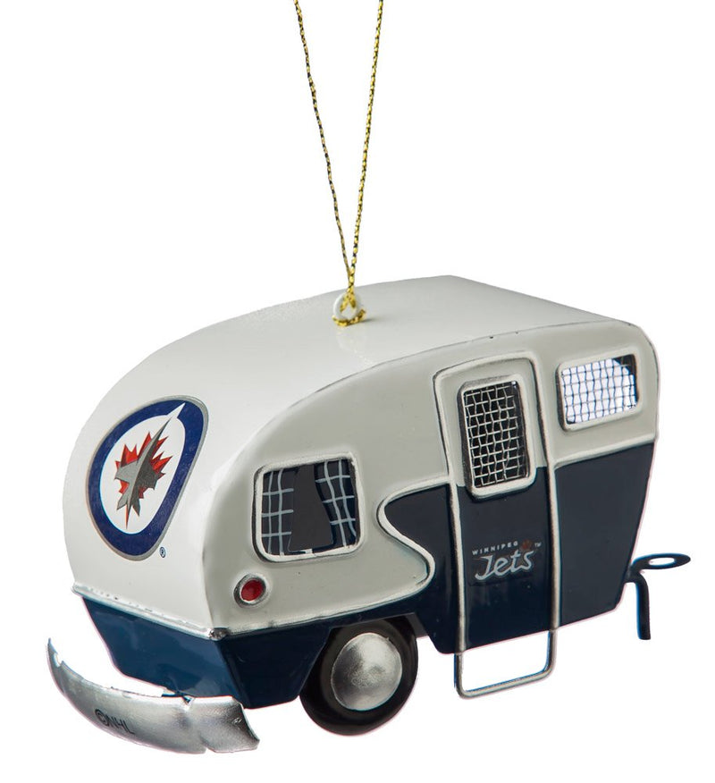 Team Sports America Metal Winnipeg Jets Camper Ornament