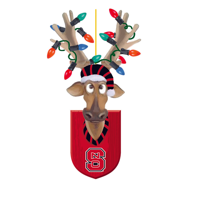 Evergreen North Carolina State University, Resin Reindeer Orn, 1.57'' x 2.36 '' x 4.02'' inches