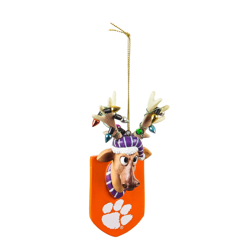 Clemson University, Resin Reindeer Ornament Officially Licensed Decorative Ornament for Sports Fans