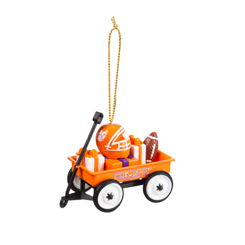 Evergreen Enterprises Team Wagon Ornament, Clemson, 3.13'' x 2.5 '' x 1.75'' inches