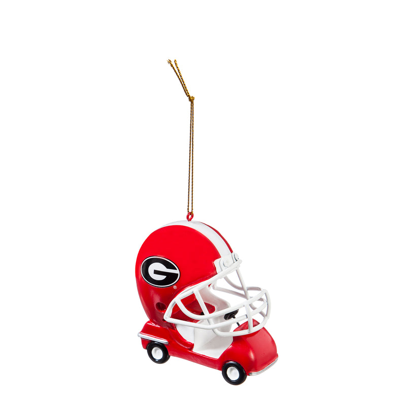Evergreen Enterprises University of Georgia, Field Car Ornament, 2.95'' x 2.17 '' x 2.95'' inches