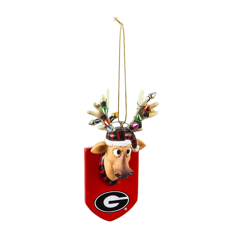 Evergreen University of Georgia, Resin Reindeer Orn, 1.57'' x 2.36 '' x 4.02'' inches