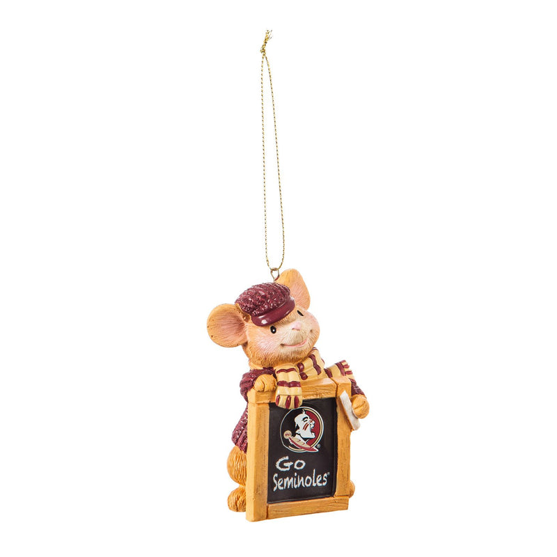 Florida State University, Holiday Mouse Ornament Officially Licensed Decorative Ornament for Sports Fans Ornament