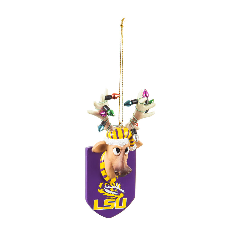 Evergreen Louisiana State University, Resin Reindeer Orn, 1.57'' x 2.36 '' x 4.02'' inches