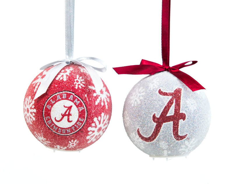 Team Sports America LED Boxed Ornament Set of 6, University of Alabama Christmas and Decor for College Sports Fans