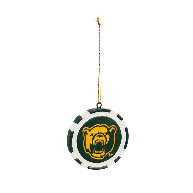 Evergreen Game Chip Ornament, Baylor University, 2.5'' x 2.5 '' x 0.25'' inches