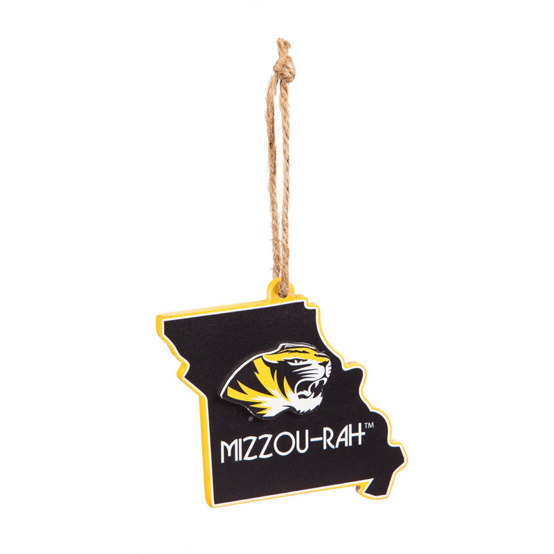 Evergreen University of Missouri, State Ornament, 5.3'' x 0.2 '' x 5.1'' inches