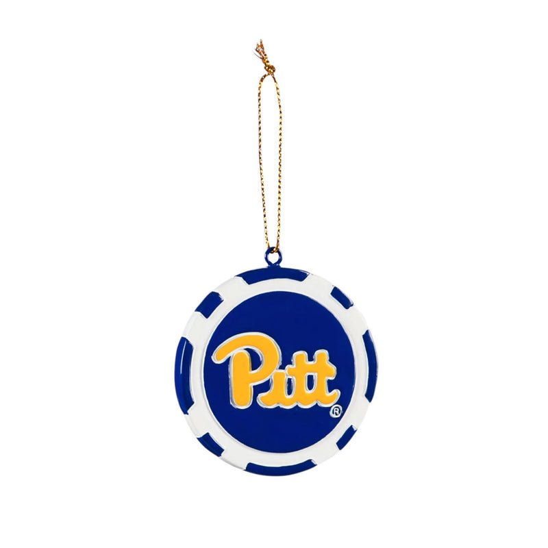Evergreen Game Chip Ornament, University of Pittsburgh, 2.5'' x 2.5 '' x 0.25'' inches