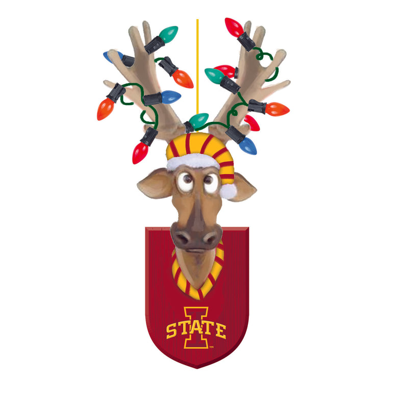 Evergreen Iowa State University, Resin Reindeer Orn, 1.57'' x 2.36 '' x 4.02'' inches