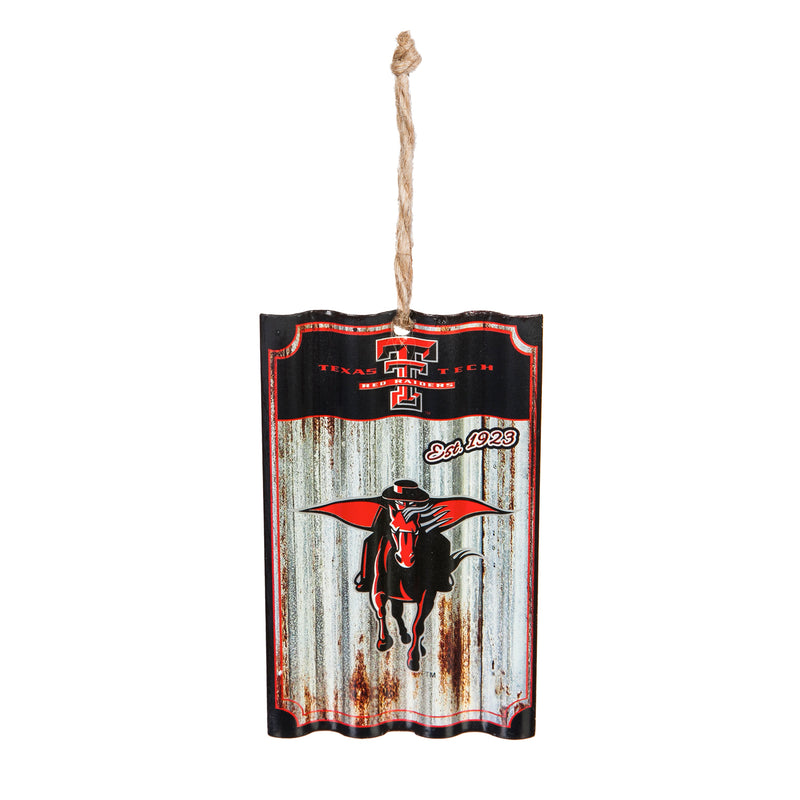 Evergreen Enterprises Texas Tech, Metal Corrugate Ornament, 3.25'' x 5 '' x 0.5'' inches