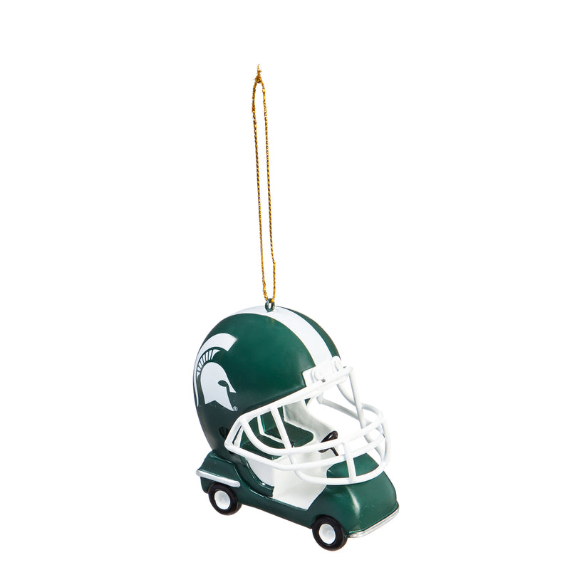 Evergreen Michigan State University, Field Car Ornament, 2.95'' x 2.17 '' x 2.95'' inches