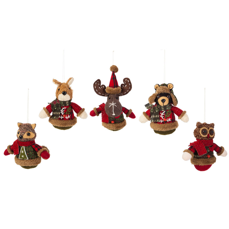 Woodland Icon Polyester Ornament, 5 ASST