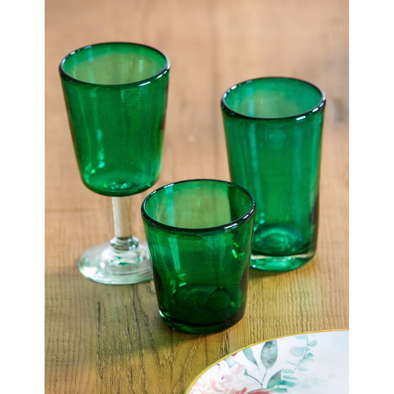 Evergreen Recycled Glass Pint, 16 OZ, Marcel- Emerald