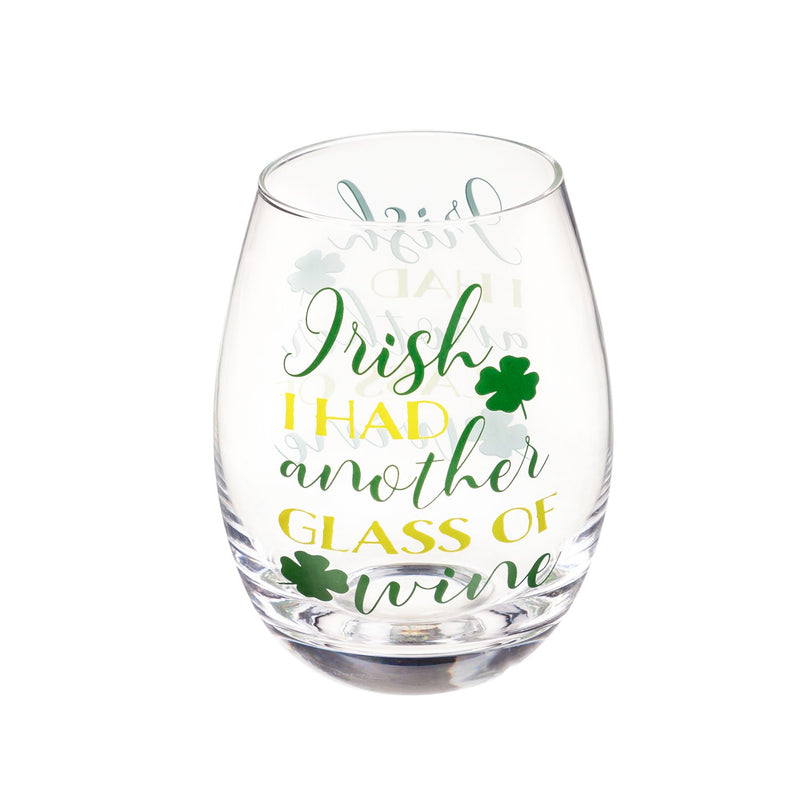 Cypress Home Beautiful Irish Kiss Stemless Wine Glass - 4 x 4 x 5 Inches Homegoods and Accessories for Every Space