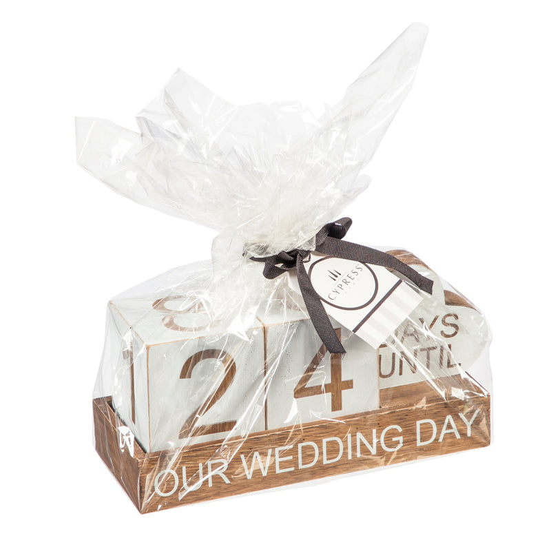 "Wooden Countdown Table Décor, ""Our Wedding Day"""