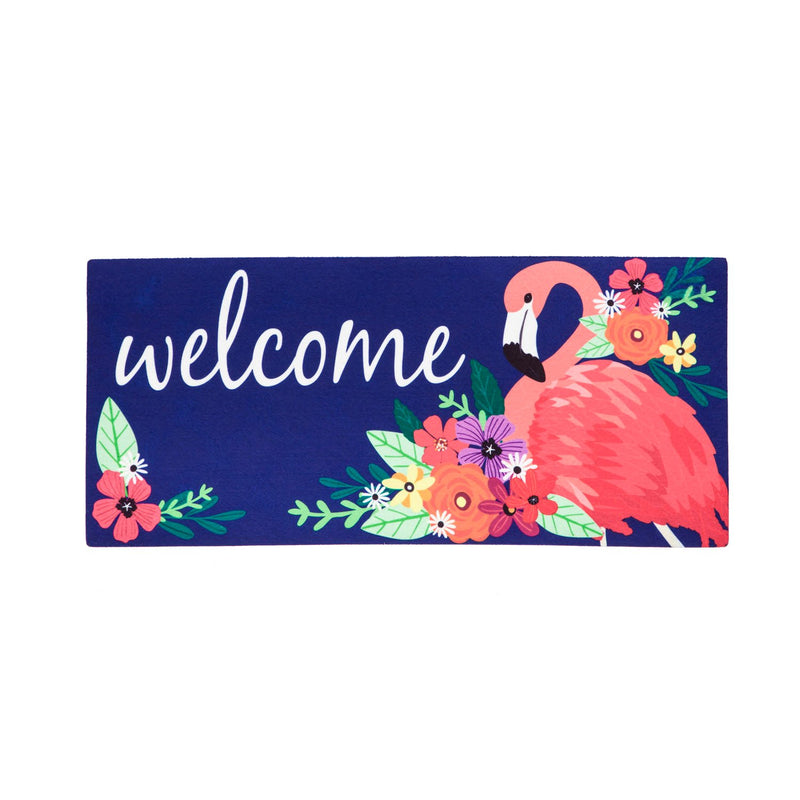 Evergreen Flag Indoor Outdoor Décor for Homes Gardens and Yards Floral Flamingo Sassafras Switch Mat