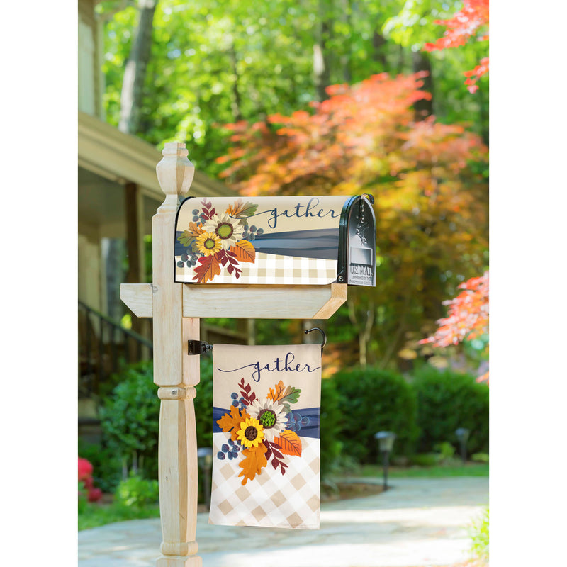 Fall Floral Gather Mailbox Cover