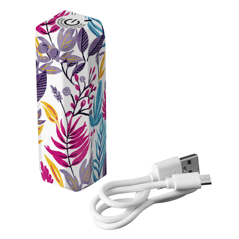 Evergreen Retractable UVC Light Sanitizer  Portable Lamp, Bright Floral, 1.48'' x 3.86'' x 1.48'' inches