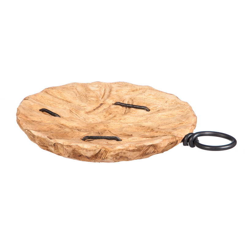 Evergreen Shallow Wooden Bowl, Medium, 15.4'' x 11.4'' x 2'' inches