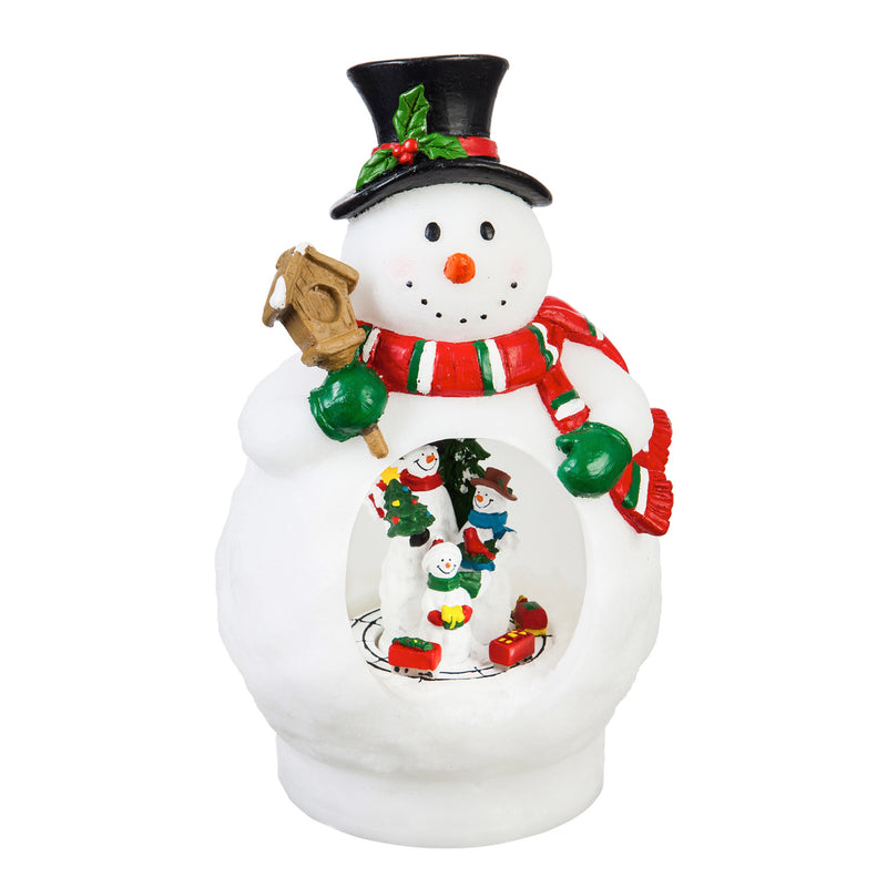 9.5'' Tall LED Snowman with animated motion Table Décor, 5'' x 4.5'' x 9.5'' inches