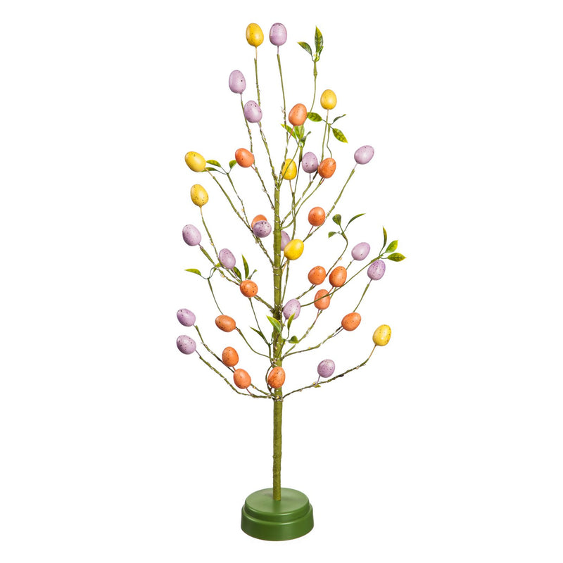 24'' LED Easter Egg Tree with 40 LED Lights, 12'' x 12'' x 24'' inches