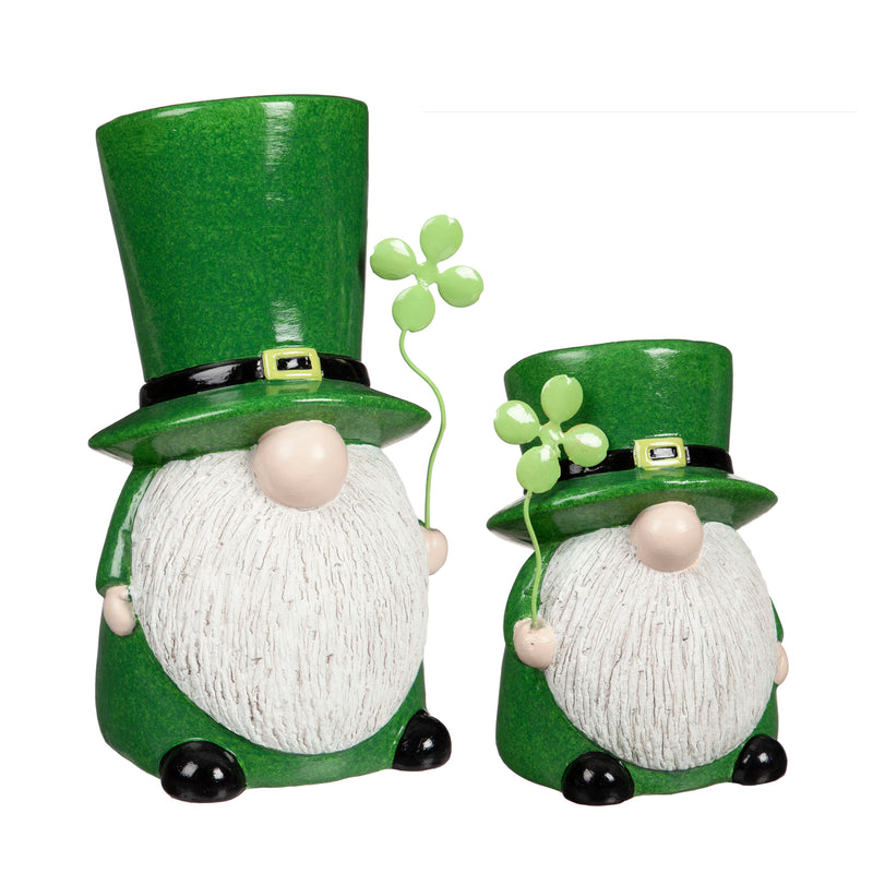 Terracotta St. Patrick's Day Gnome Table Décor, Set of 2, 4.3'' x 4.3'' x 9'' inches