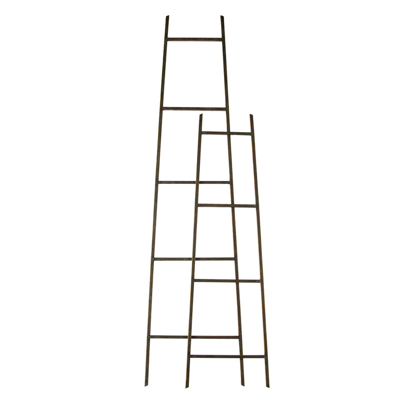 Evergreen Metal Ladder Décor, Set of 2, 14'' x 56'' x 0.5'' inches