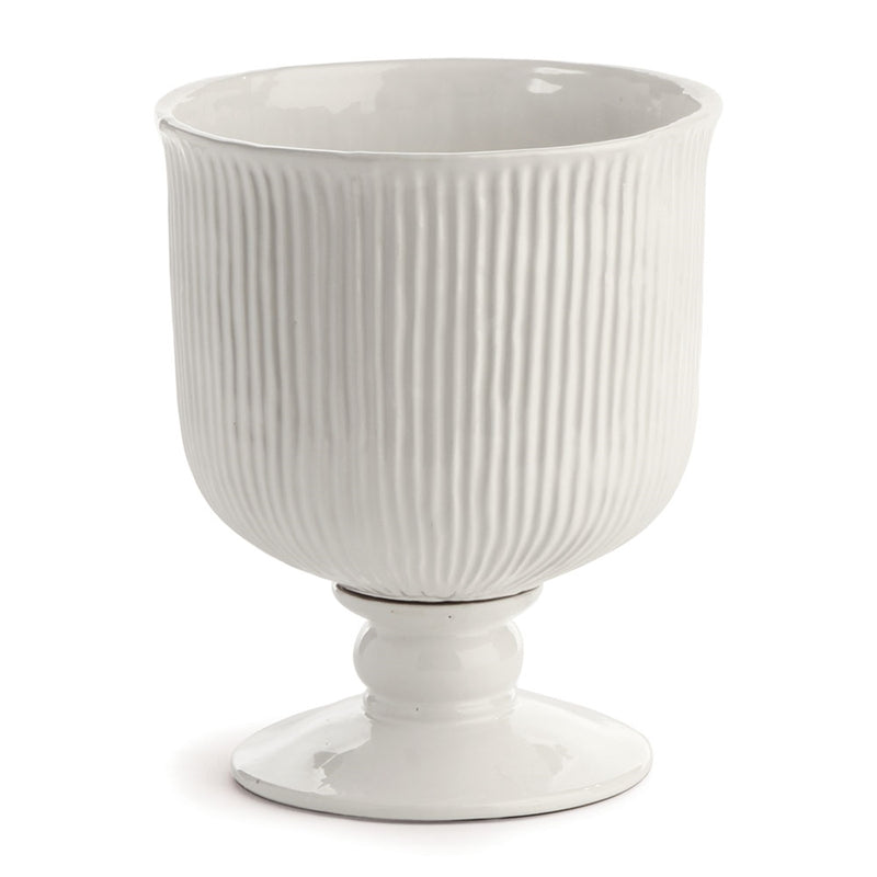 Porch & Petal Sinclair Footed Urn, 11""