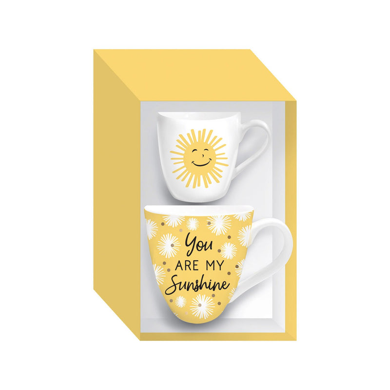 Evergreen Mommy and Me Ceramic Cup Gift set, 17 OZ, You are my sunshine, 5.63'' x 4.09'' x 4.41'' inches