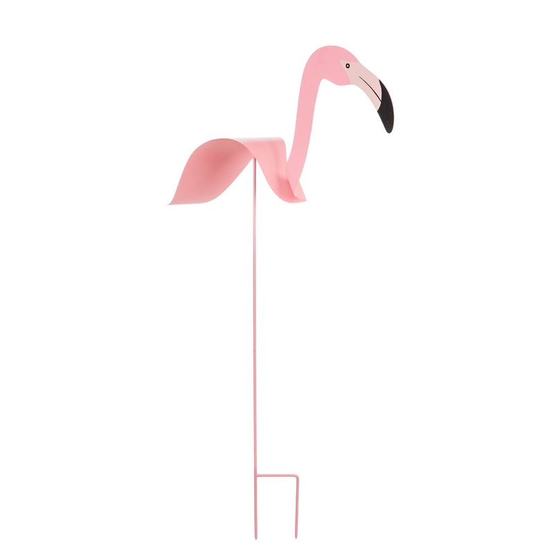 Evergreen Metal stake, flamingo, 7''x 26.5'' x 48'' inches