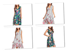 Load image into Gallery viewer, Women's Floral V-Neck Dress