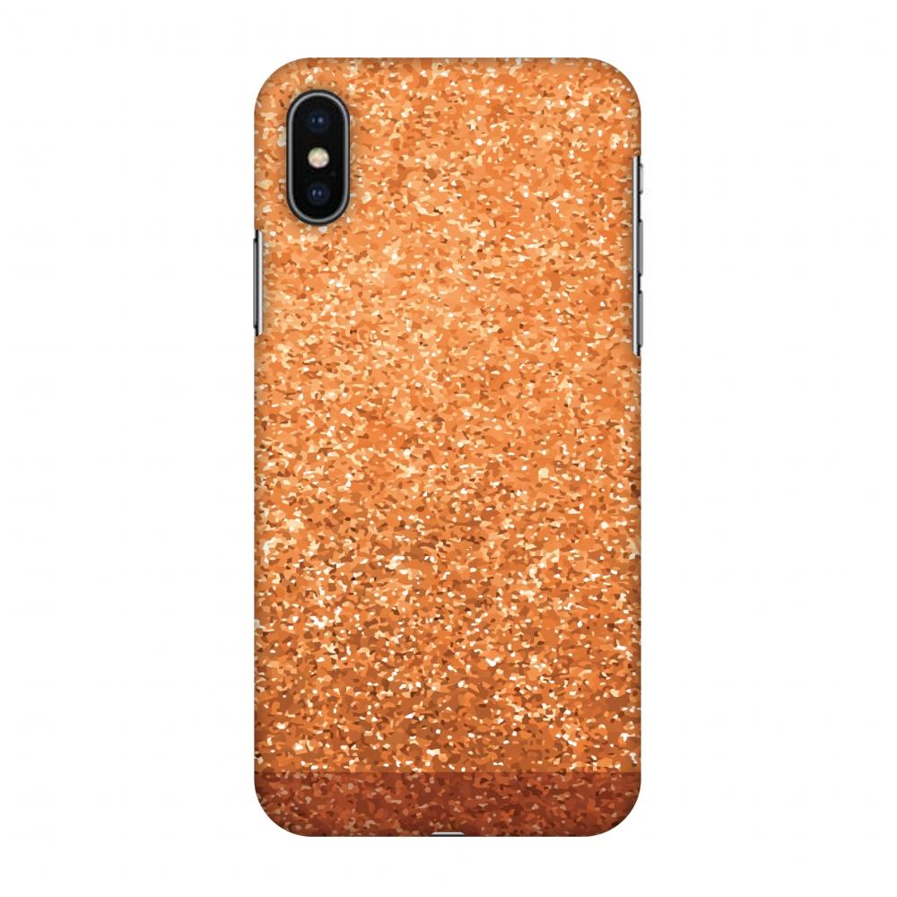 Golden Amber Slim Hard Shell Case For Apple iPhone X