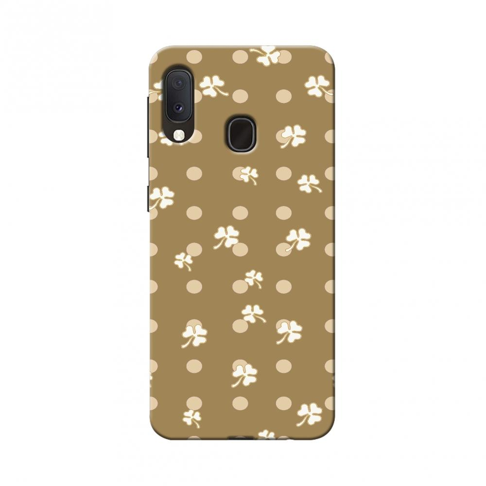 Shamrocks-White Slim Hard Shell Case For Samsung