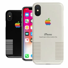 Load image into Gallery viewer, Retro Macintosh Apple Vintage Old Logo Black or White iPhone Case
