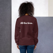 Load image into Gallery viewer, 'Trance 24/7 365' Unisex Sweatshirt (Black, Navy, Maroon, Indigo Blue, Light Pink)