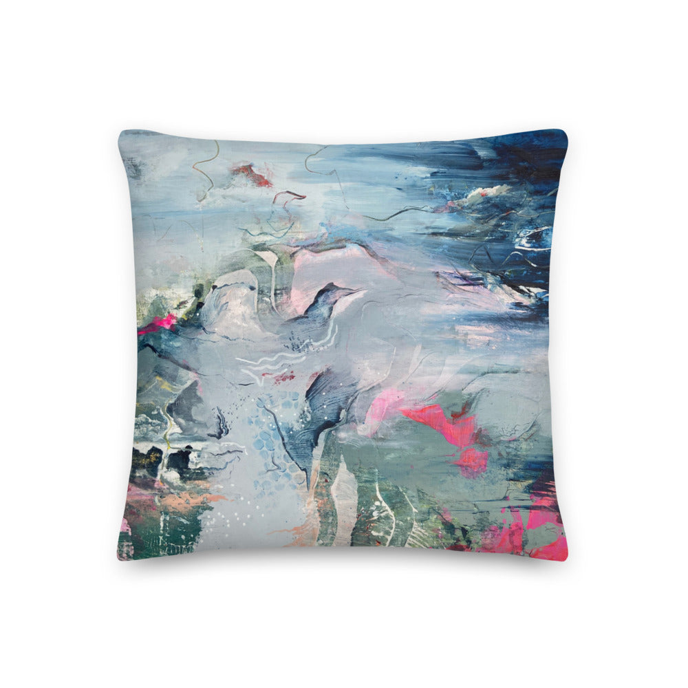 'Wanderlust' Reversible Art Print Premium Cushion