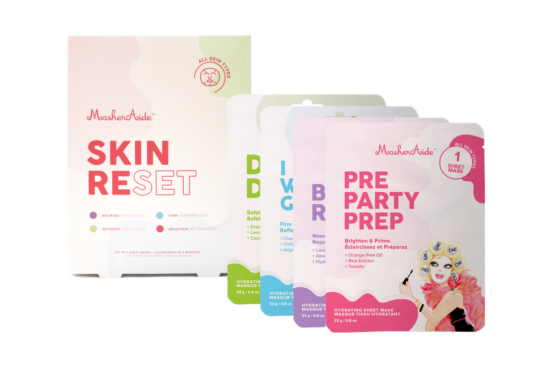 MaskerAide Skin Reset Sheet Mask Box Set