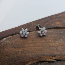Load image into Gallery viewer, Titanium Jewelry Opal Flower (P032)