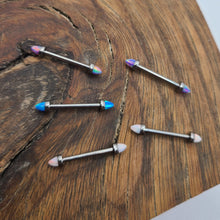Load image into Gallery viewer, Titanium Jewelry Straight Bar with Opal Spikes (P039)